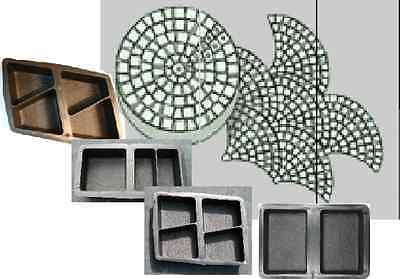 Gehwegplatten & Steine Zielstrebig 4 Gießformen Für 13 Klosterpflaster-oberfläche Rustikal Jade Weiß Baugewerbe