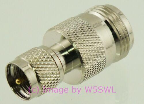 Coax Adapter Mini-UHF MUHF by W5SWL ® Male to N Female