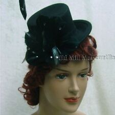 Victorian style mini top hat feather trim Dorfman Pacific Scala brand name