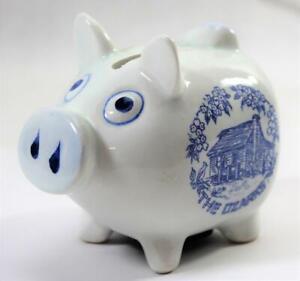 Vintage-Ceramic-Souvenir-Piggy-Bank-Pig-Bank-The-Ozarks