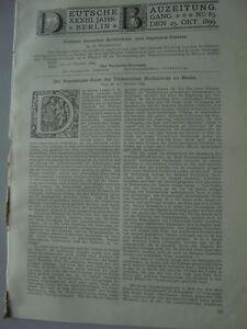 Respectueux 1899 85 100 Bicentenaire Université Technique De Berlin-afficher Le Titre D'origine