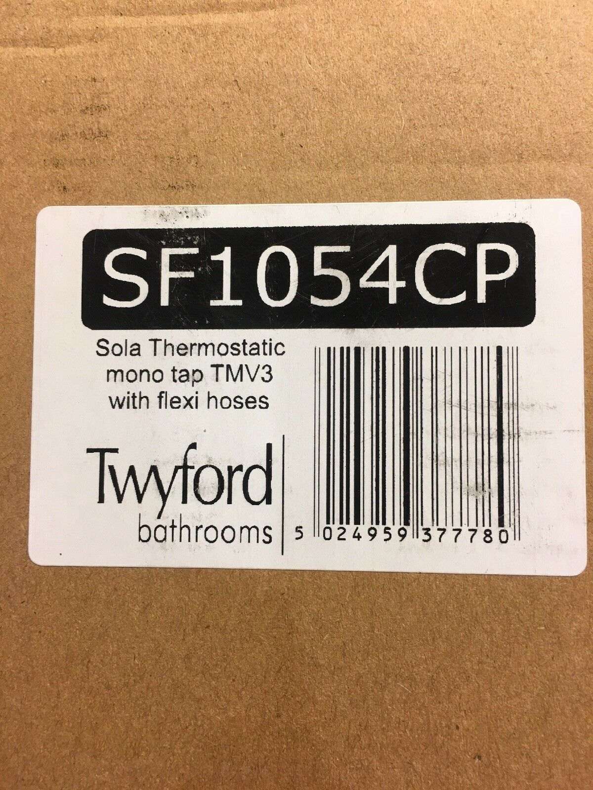 TWYFORDS Sola thermostatique (TMV3) mono bassin mitigeur, avec Flexi tuyaux