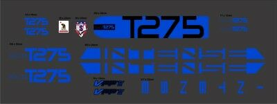 INTENSE TRACER T275 CUSTOM MADE FRAME DECAL SET black