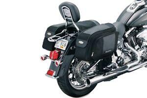 Pre-Owned-Kuryakyn-Motorcycle-Black-Soft-GranThrow-Over-Saddlebags