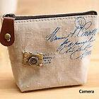 Women Fashion Girl Retro Zipper Coin Bag Purse Wallet Card Case Handbag Gift