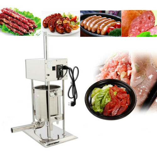 10L Electric Stainless Vertical Sausage Stuffer Meat Maker Filler Meat Stuffer