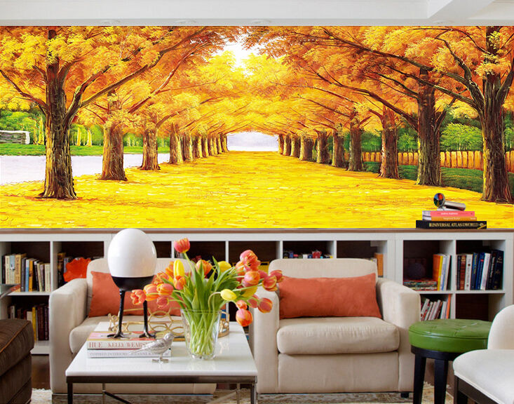 3D Lush Trees Painting 133 Paper Wall Print Wall Decal Wall Deco Indoor Murals