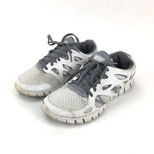 new product 6e5f5 1d275 Details about Nike Free Run 2 GS Youth Size 5Y White Shoes 443742-101
