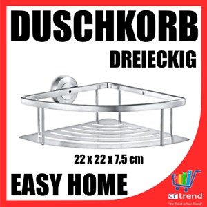 Möbel & Wohnen Duschkorb Dreieckig Mit Wandhalterung Für Bad Dusche Rostfrei Edelstahl Wow Neu Verpackung Der Nominierten Marke