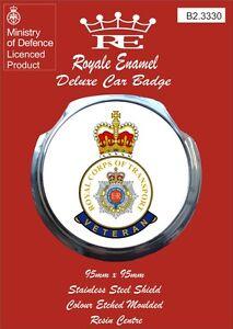 Royale Car Grill Badge Fittings - ROYAL CORPS OF TRANSPORT VETERAN - B2.3330