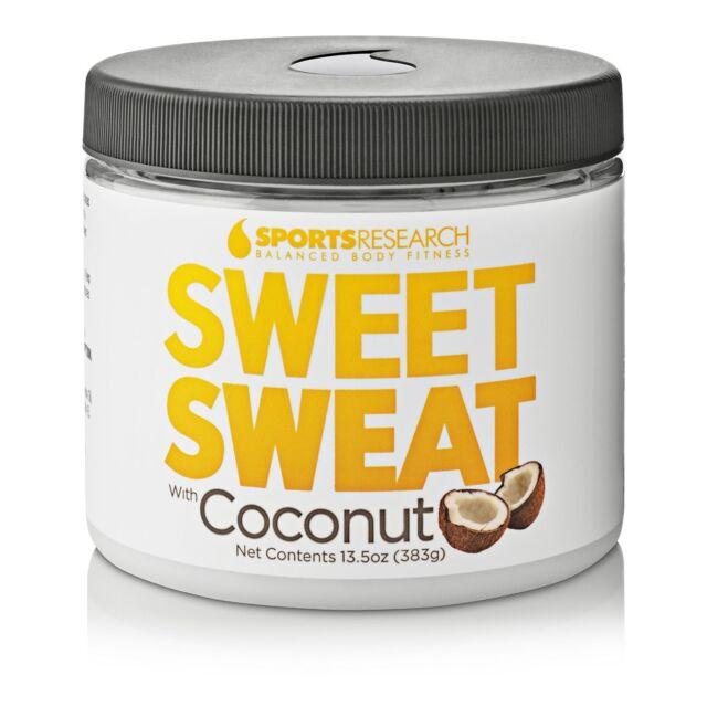Sweet Sweat Coconut XL Jar 13.5oz - Made with Extra Virgin Organic Coconut Oil