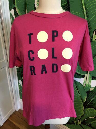 Jungmaven Pink Graphic Tee Shirt Topo Colorado Hem