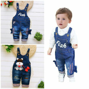 f328a436285bf 1pc baby infant girls boys clothes jeans baby overalls boys girls ...