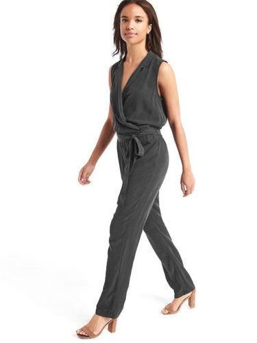 NWT Gap Soft lapel jumpsuit, Moonless Night SIZE M     E120