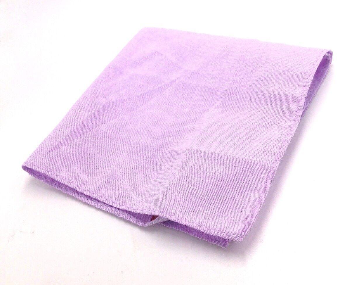 Bloomingdales Men Pocket Square Solid Dress Casual Purple Suit Handkerchief
