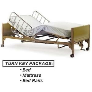 Invacare Full Electric Home Care Bed Package W Innerspring Mattress Rails Ebay