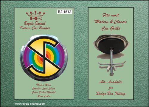 Royale Car Grill Badge /& fittings CAPTAIN SCARLET SPECTRUM B2.1512