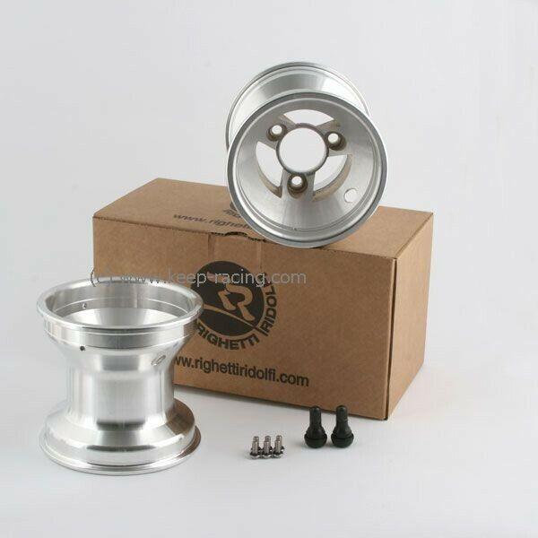 5 Zoll Aluminiumfelgen Satz (2 Stück) 125mm Felgensicherung 58mm Lochabstand