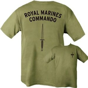 BRITISH-NAVY-ROYAL-MARINES-COMMANDO-T-SHIRT-100-COTTON-GREEN-ARMY-MILITARY
