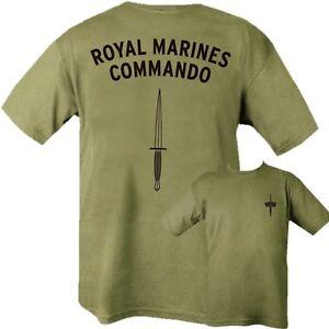 BRITISH-NAVY-ROYAL-MARINES-COMMANDO-T-SHIRT-100-COTTON-GREEN-ARMY-MILITARY