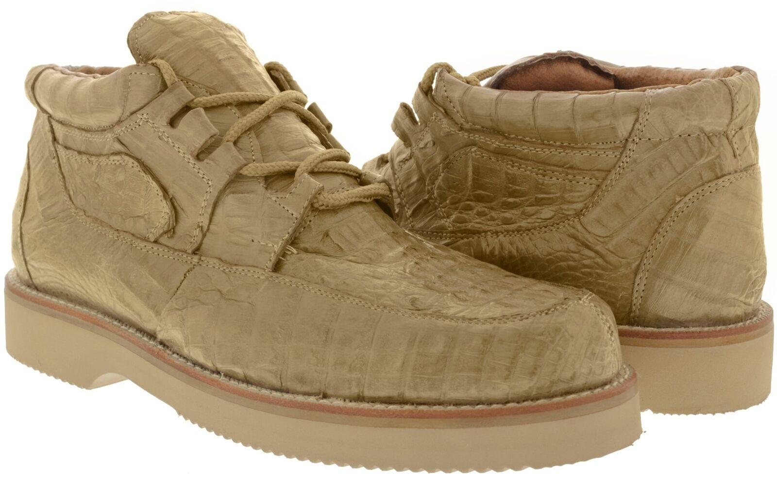 Mens El Presidente Sand Genuine Exotic Crocodile Skin Casual shoes Rodeo