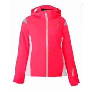 Spyder-Sport-Prevail-Ski-Jacket-Pink-White-Ladies-Size-UK-14-L-REF156