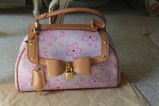 100% Authentic LOUIS VUITTON Monogram Cherry Blossom Sac Retro Pink