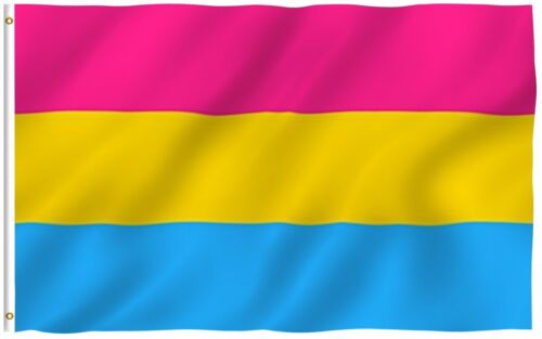 Pansexual Rainbow LGBT Polyester 3x5 Foot Flag Gay Lesbian Omnisexual Banner