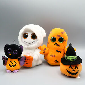 Lot TY Beanie Boo Ghosts Mist Ghoulie W Trick or treat Bag & 2 mini plush