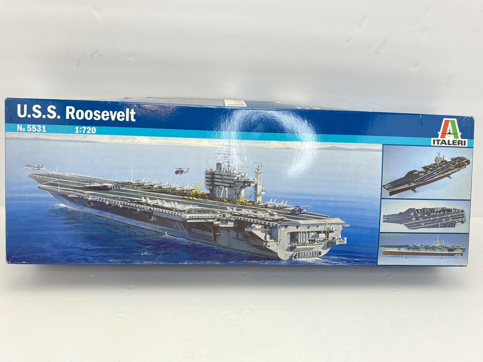 Italeri 1//720 USS Roosevelt Plastic Model Kit 5531 ITA5531