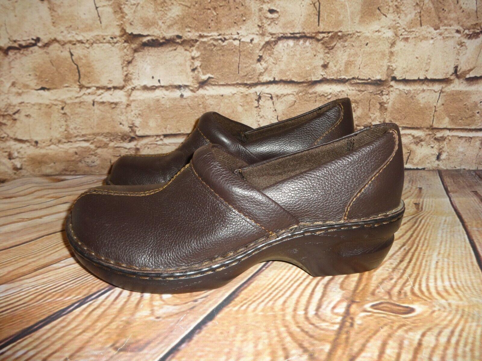 Thom McAnn Mc An Toronto Brown Womens Size 10 M Wide Clog Comfort Shoes Slip Ons