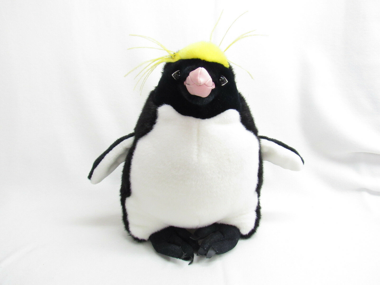 1999 THE DISCOVERY CHANNEL LARGE PENGUIN MACARONA STUFFED PLUSH REALISTIC