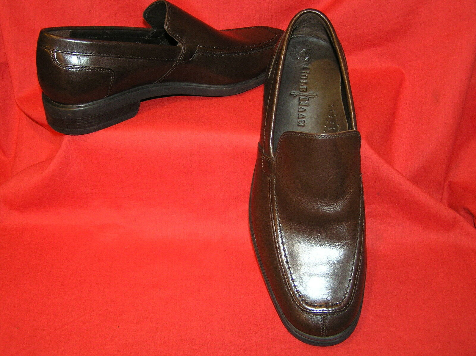 COLE HAAN CH PENNY LOAFERS MENS SHOES FLATS BROWN LEATHER 8  148.00