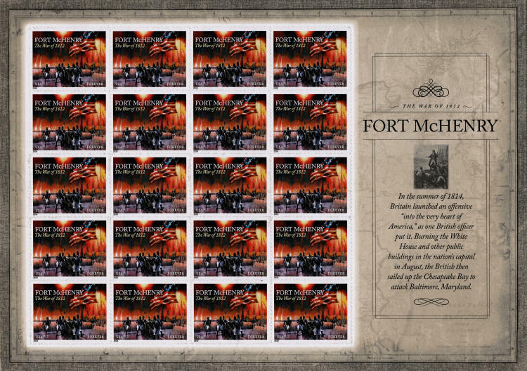 2014 49c The War of 1812: Fort McHenry, Sheet of 20 Sco
