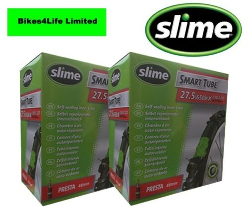 SLIME SELF SEALING CYCLE INNER TUBE 27.5 X 2.0 PRESTA VALVE QUANTITY OPTIONS