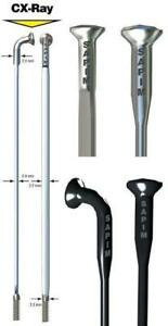 SAPIM-CX-RAY-Spokes-Black-Bladed-J-Bend-Any-Quantity-Any-Length-NEW