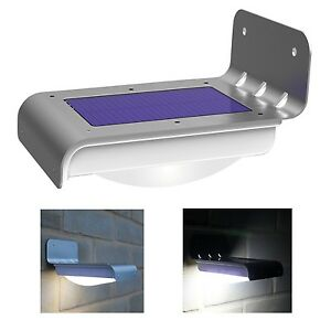 Image Is Loading 16 LED Solar Power Motion Sensor Garden Security