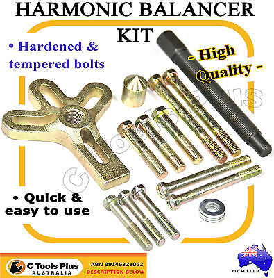 13pc Harmonic Balancer Kit Gear Pulley Puller Steering Wheel Crankshaft Tools
