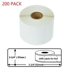 200 Roll Of 1000 Labels 30334 For Dymo Lw 450 400 Twin Turbo 57mm32mm