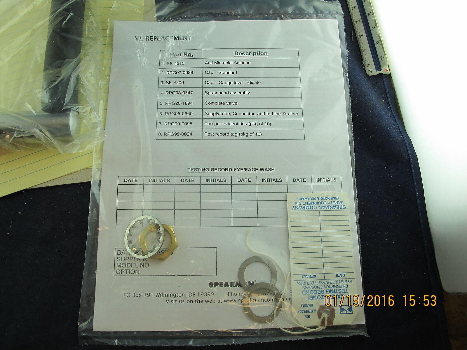C5S2 SPEAKMAN RPG20-1894 Emergency Eye//Face Wash Station Valve Repair Group