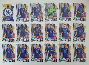 2020-21-Match-Attax-UEFA-Champions-League-Chelsea-team-set-18-cards