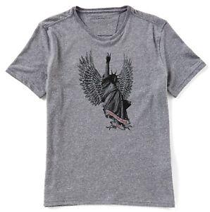 John-Varvatos-Star-USA-Men-039-s-Short-Sleeve-Liberty-Wings-Crew-T-Shirt-Hematite