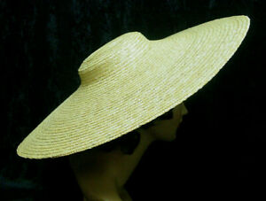 Straw Hat Low Crown 18th-19th century colonial revolutionary war 20 inches New