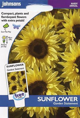 2019 Mode Johnsons Seeds - Pictorial Pack - Flower - Sunflower Garden Statement - 50 Seeds