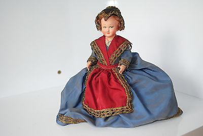 (n°5) Ancienne Poupee Folklorique Doll Petitcollin Region Savoie Costruzione Robusta