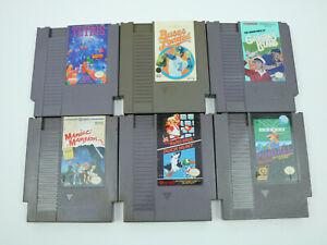 Nintendo-NES-Games-LOT-of-6-AUTHENTIC-UNTESTED-Mario-Bros-Tetris-Pinball
