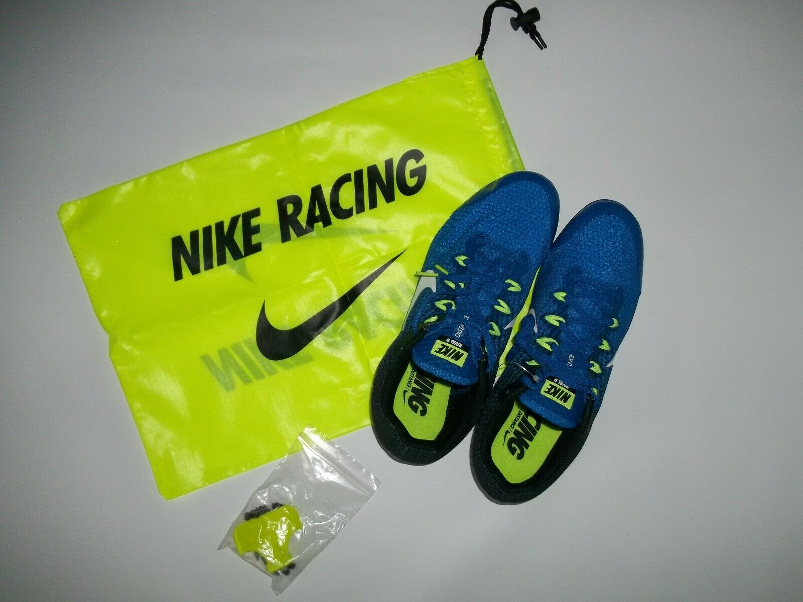 NIKE Racing Distance RUNNING Rival D SPIKED Track & Field SHOES Mens Sz 11.5 NEW
