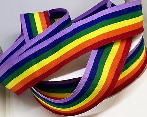 Rainbow Ribbon Grosgrain 25mm Wide 4 Mtrs