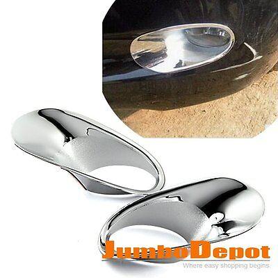 2X Chrome Front Fog Driving Light Cover Trim Fit For Honda Accord 08 09 10 Sedan