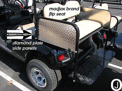 madjax Golf Cart Diamond Plate Flip Seat SIDE Covers fits ezgo-club car-yamaha